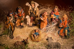 Christmas Nativity scene. Statues in a Christmas Nativity scene Royalty Free Stock Photos