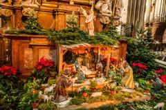 Christmas Nativity scene in Vienna, Austria Stock Photography