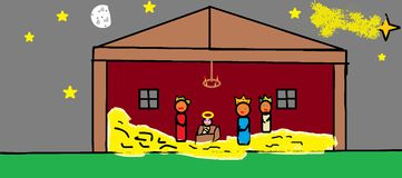 Christmas Nativity scenes. Royalty Free Stock Images