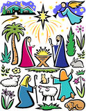 Christmas Nativity Set Royalty Free Stock Images