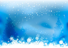 Christmas nature background. With snowflakes Stock Photo