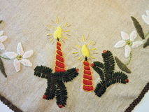 Christmas needlework Royalty Free Stock Photography