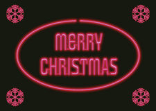 Christmas neon. Illustration of a merry christmas neon sign Stock Image
