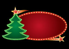 Christmas neon stock illustration