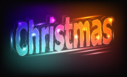Christmas - a neon inscription Royalty Free Stock Photography