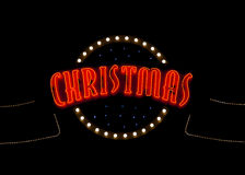 Christmas neon light sign Stock Images