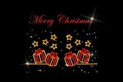 Christmas neon lights. Stock Photography