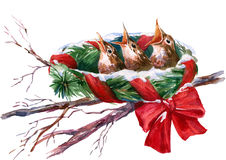 Christmas nest Royalty Free Stock Photos