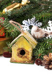 Christmas nesting box Stock Photo