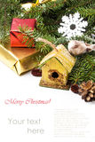 Christmas nesting box Stock Image