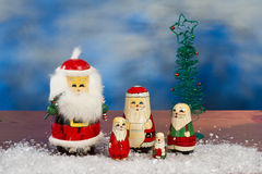 Christmas nesting dolls Stock Photos