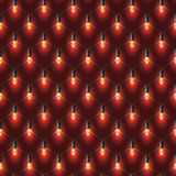 Christmas net lights garland. Red shine on the dark vinous back. Vector realistic Christmas net lights garland. Red shine on the dark vinous background. Seamless Stock Photo