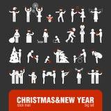 Christmas&new roku kija postacie ilustracji