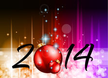 2014 Christmas and New Yaer Colorful Background Stock Photo