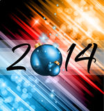 2014 Christmas and New Yaer Colorful Background Stock Images