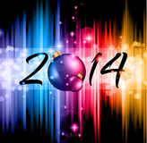 2014 Christmas and New Yaer Colorful Background Royalty Free Stock Image
