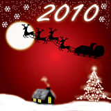 Christmas And New Year 2010 Royalty Free Stock Photos