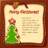 Christmas and New Year 2013 greeting card. With snake Stock Images