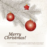 Christmas and New Year. Vector greeting card Vector Illustration