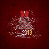 Christmas & New Year. Vector greeting card stock illustration