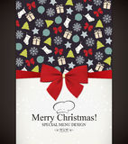 Christmas & New Year. Special Christmas & New Year menu design Stock Photo