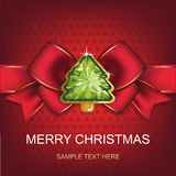 Christmas and New Year. Christmas background with Christmas tree.  illustration Stock Photography
