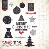 Christmas & New Year. Christmas decoration set for your design Stock Photos