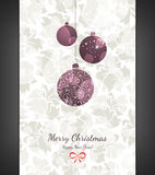 Christmas & New Year. Christmas and New Year. Vector greeting card Royalty Free Stock Photography