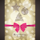 Christmas & New Year. Christmas and New Year. Vector greeting card royalty free illustration