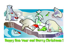 Christmas and New Year. This is hight resolution post card, designed by illustration vector illustration