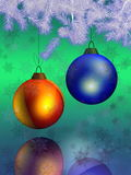Christmas And New Year 3D. Domestic ornament of a celebratory fur-tree before christmas or new year Royalty Free Stock Photos
