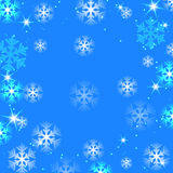 Christmas and New Year abstract background. With snowflakes stock illustration