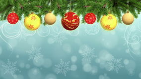 Christmas and New Year Animated Background stock video footage