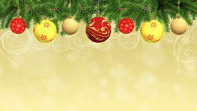 Christmas and New Year Animated Background Royalty Free Stock Photography