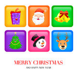 Christmas and New Year application icons. Stock Image