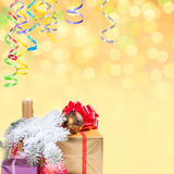Christmas and New Year background-08 Royalty Free Stock Image
