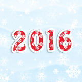 Christmas and New Year background. New Year 2016 Royalty Free Illustration