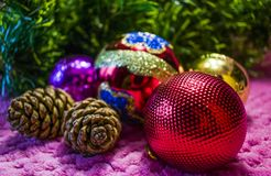 Christmas, New Year background. Royalty Free Stock Photo