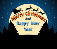 Christmas and New Year background blue Stock Image