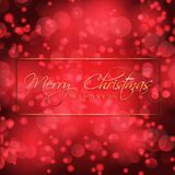 Bokeh lights Christmas and New Year background. Christmas and New year background with bokeh lights and decorative text Stock Photography