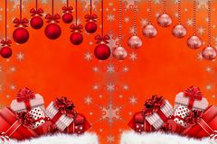 Christmas and New Year Background Royalty Free Stock Images