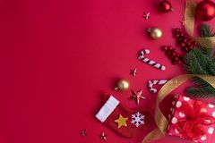 Christmas and New Year background concept decoration stock images