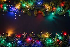 Merry christmas and happy new year background stock photography