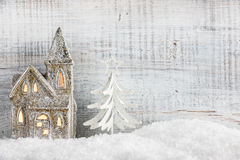 Christmas and New Year background. With Christmas decorations royalty free stock photos