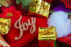 Christmas and New Year Background With Decorations Stock Photography