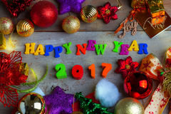 Christmas and New Year Background With Decorations Royalty Free Stock Photos