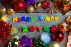 Christmas and New Year Background With Decorations Royalty Free Stock Photo