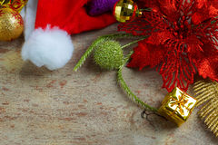 Christmas and New Year Background With Decorations Royalty Free Stock Image