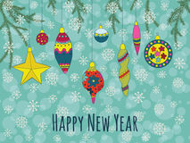 Christmas and New Year background Royalty Free Stock Photo