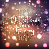 Christmas and New Year background. Decorative background for Christmas and the New Year Stock Photography